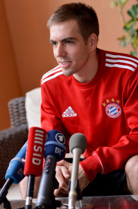 Club World Cup - Philip Lahm at the press conference for Bayern Munich on December 21, 2013 -- photo: dpa