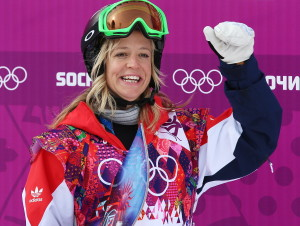 Jenny Jones of Great Britain takes the Bronze Medal in the Women's Snowboard Slopestyle final at Rosa Khutor Extreme Park at the Sochi  Games -- photo: dpa