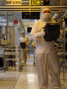 Production at Infineon near Munich in Bavaria -- photo: dpa