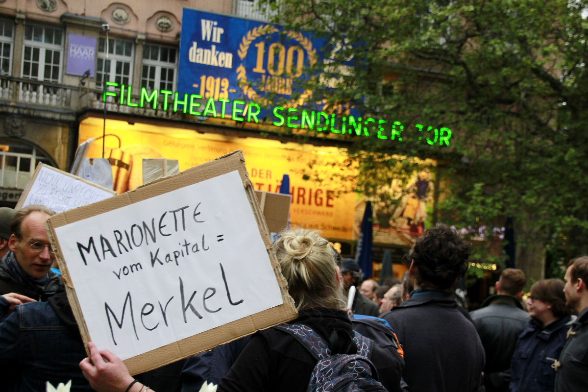 Ms. Merkel was a popular target — munichFOTO