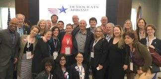Larry Cohen of Our Revolution with progressive members of the DPCA