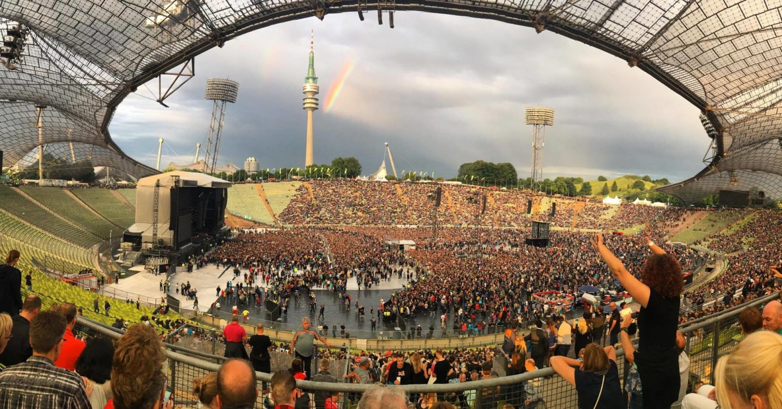 A Double Rainbow Over Depeche Mode At The Olympiastadion Munichnow