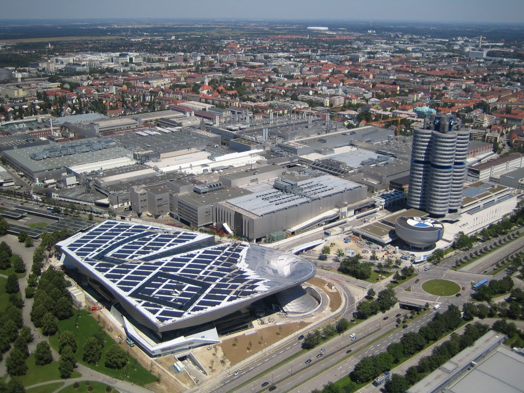 The BMW complex as viewed from the Olympia Tower -- munichFOTO