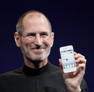 Steve Jobs introduces the first iPhone