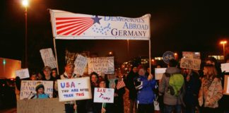 "Democrats Abroad Munich ""No Ban No Wall"" March -- munichFOTO"
