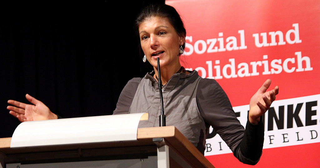 Sahra Wagenknecht is a member of the National Committee of Die Linke -- wikicommons