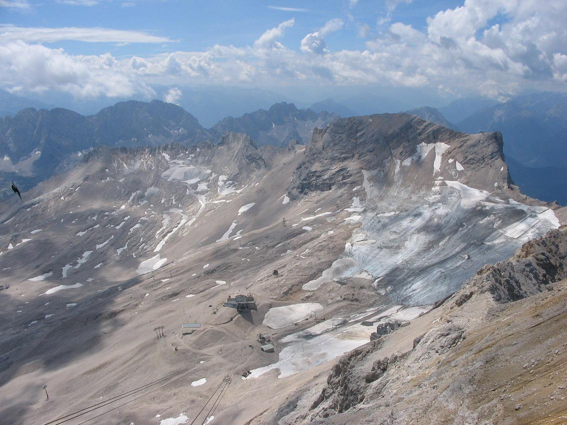 The decline of the glacier is clearly visible in this photo -- wikiCommons