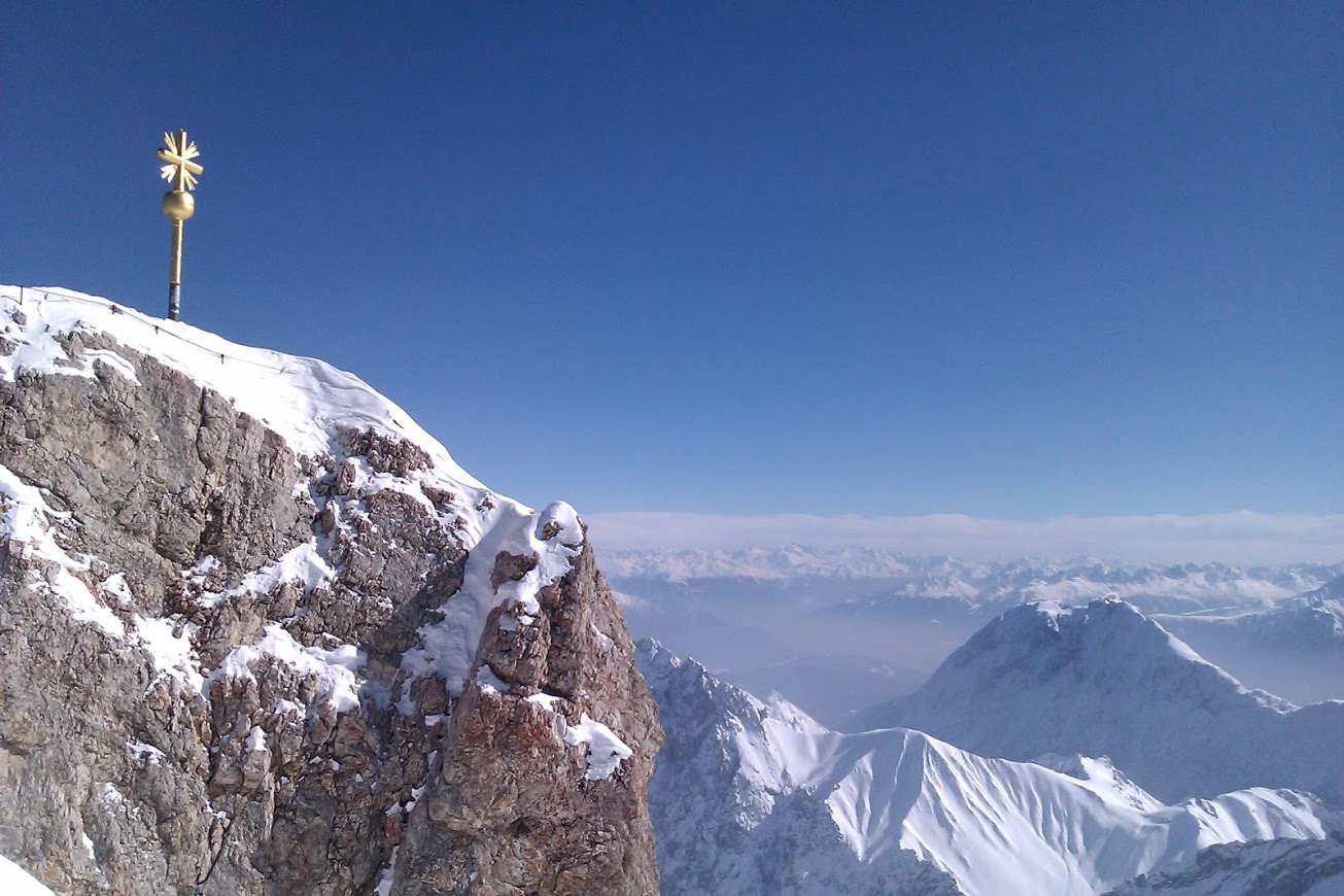 During the summers months, the actual peak is open for the more daring day hikers -- munichFOTO
