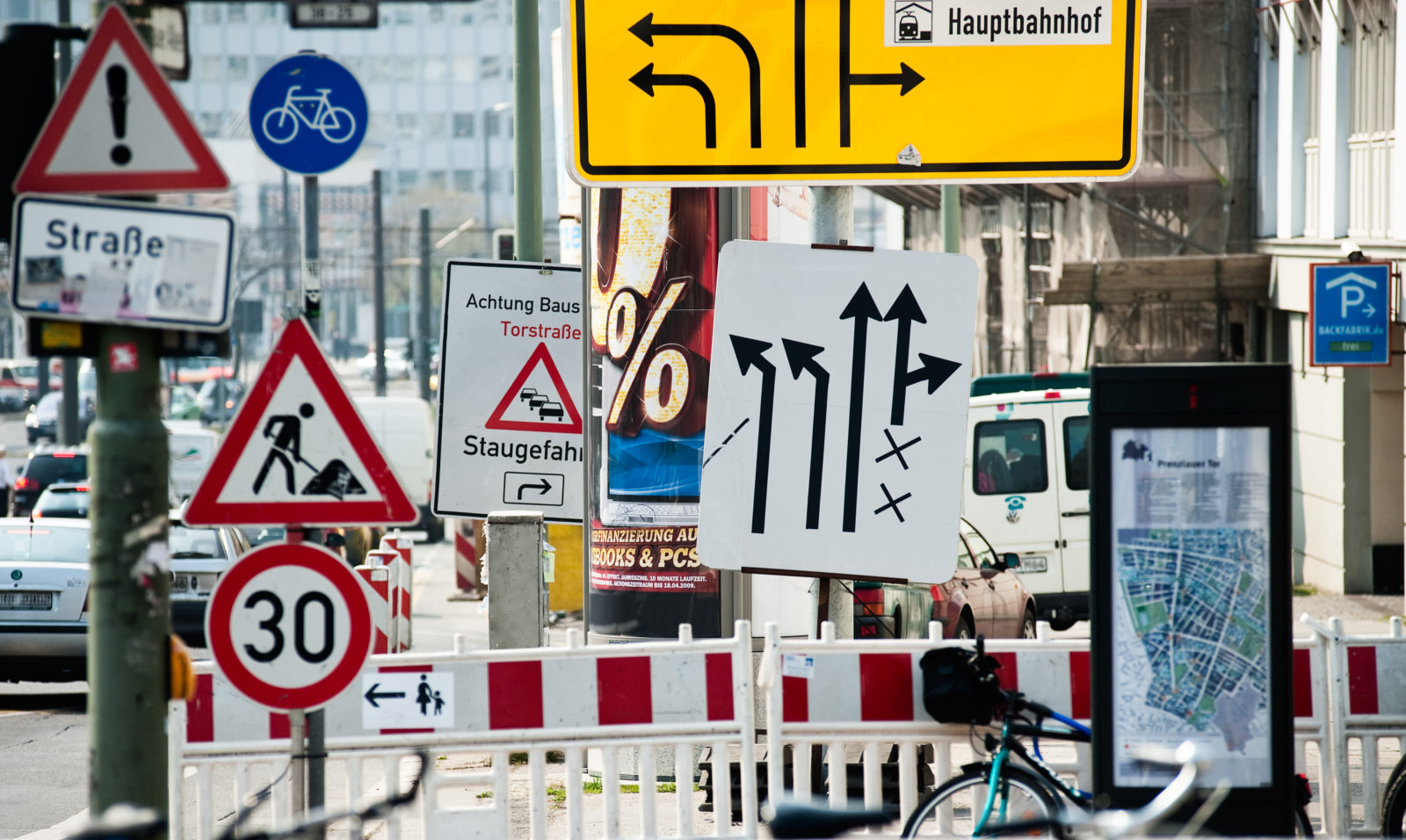Germany is in love with roadside signs -- wikiCommons