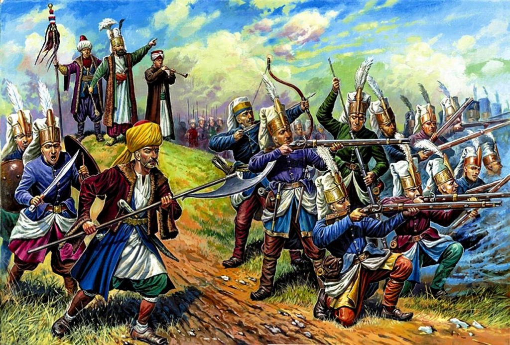 The Janissaries were an elite class of soldiers hailing from the Ottoman Empire. Expected to be completely loyal to the sultan, the Janissaries were the first standing army in Europe and began as a corps of soldiers composed of kidnapped Christian boys forced to convert to Islam.