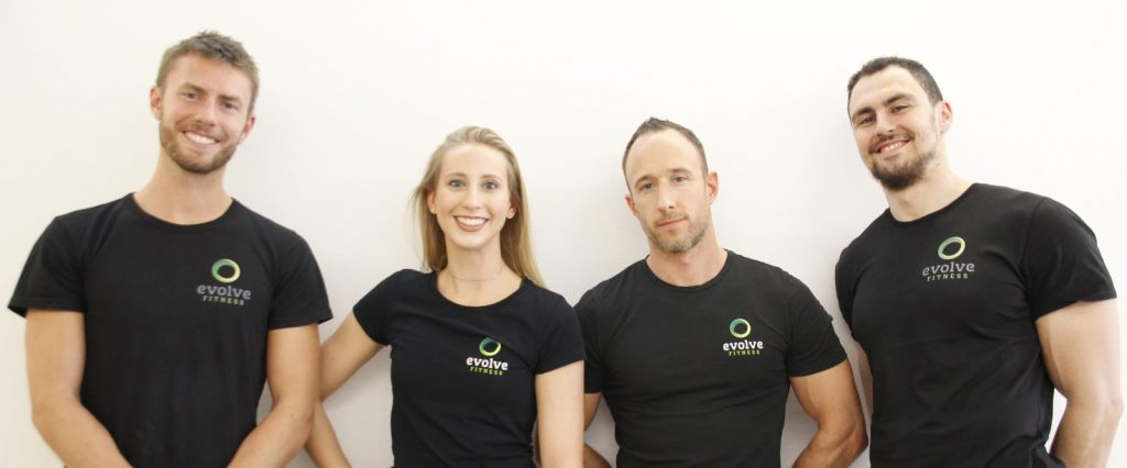The Evolve Fitness team: Neil Locock, Alvaro Robanos, Danielle Currzadd, and Simon Conway — munichFOTO