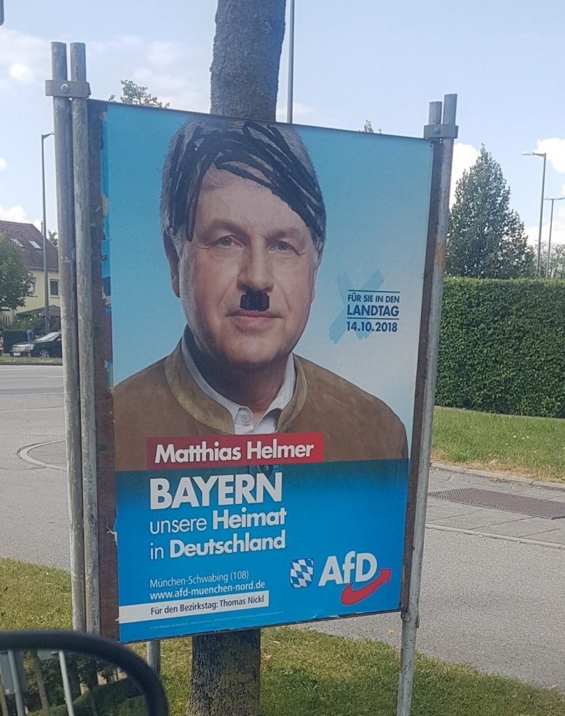 Alternative for Deutschland political roadside poster -- munichFOTO