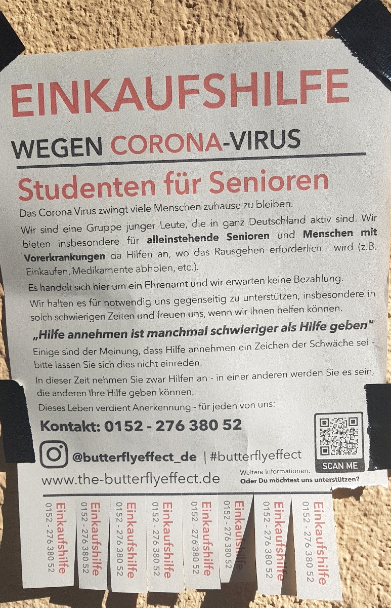 Offers to go shopping for the elderly --munichFOTO