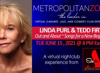 Linda Purl and Tedd First Zoom Concert June 15, 2021